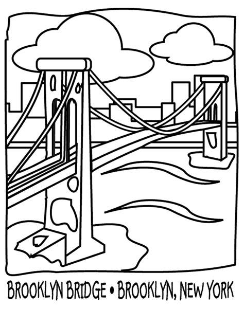 Kleurplaat Nyc by Bridge 9 Buildings And Architecture Printable