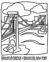 Bridge Brooklyn Coloring Buildings Pages Architecture Printable Drawing Colouring Drawings Getcolorings Kb Getdrawings sketch template