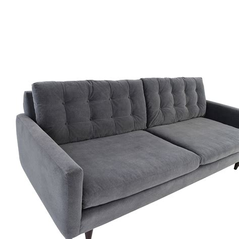 crate and barrel mid century sofa 62 off crate and barrel crate barrel petrie mid