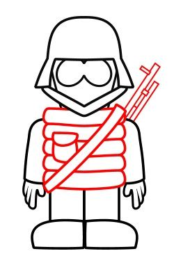 drawing  cartoon soldier
