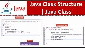 Java Tutorial   Java Class Structure