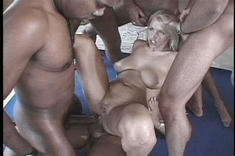 Blonde S Hardcore Interracial Gang Bang