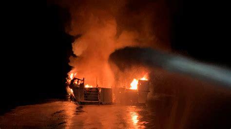 haunting distress calls  fire engulfs scuba boat