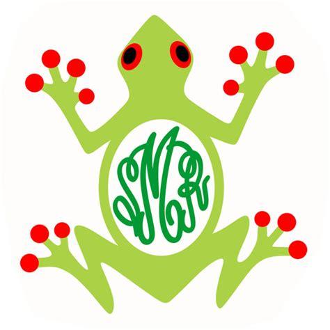 frog monogram svg cuttable frames