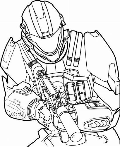 Halo Coloring Pages Patrol Paw Drawings Duty
