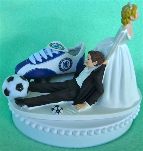 Wedding Cake Topper Chelsea Football Club Fc Soccer Themed