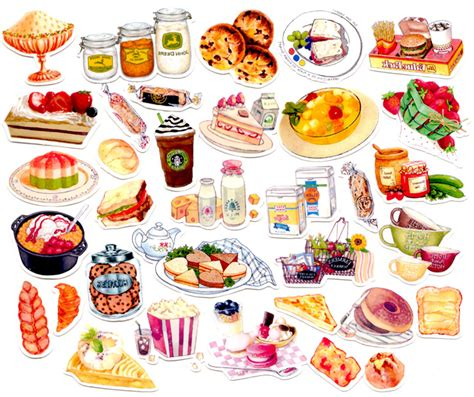 cuisine stickers aliexpress com buy 40pcs self made food bread desert