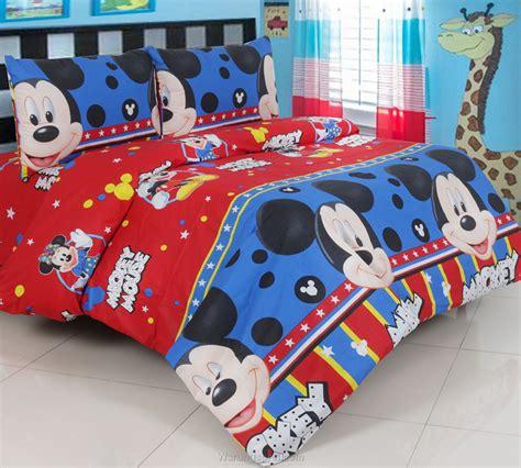 Sprei Katun Mickey sprei panca mickey smile biru warungsprei