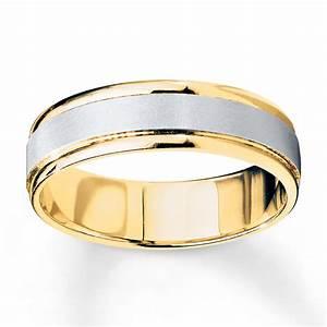 Wedding Band 10K Two Tone Gold 6mm 25228520099 Kay