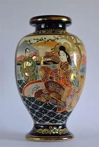 Japanische Vasen Stempel : satsuma vase porzellan japan handbemalt 25cm signiert antiquevintagedecor pinterest ~ Watch28wear.com Haus und Dekorationen