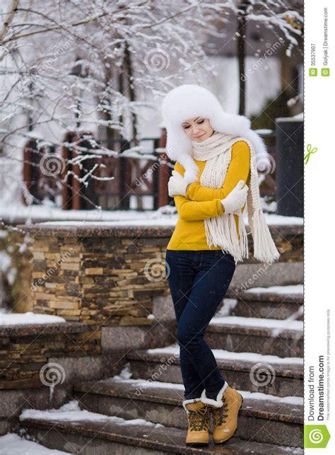 christmas  year snow winter beautiful girl  white hat