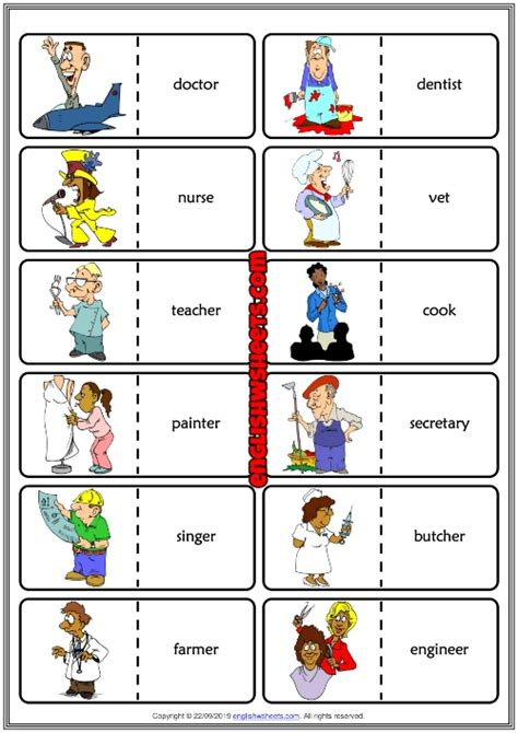 images esl games  kids occupations  review alqu blog