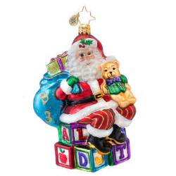 christopher radko ornaments 2014 radko toys games ornament abc santa