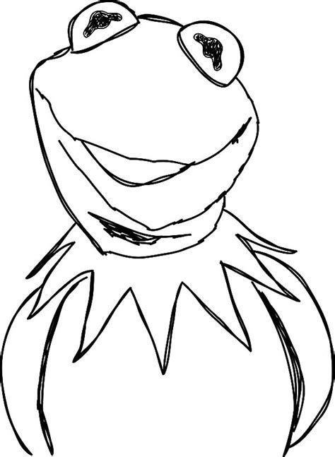 kermit  frog picture coloring pages coloring sky