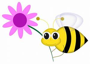 Happy Bee with Flower | Graphic illustration of cartoon ...