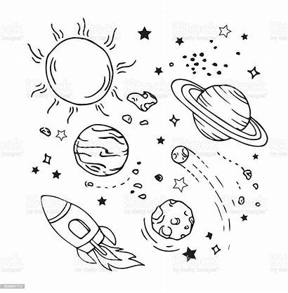 Space Draw Planet Icon Theme Drawing Saturn