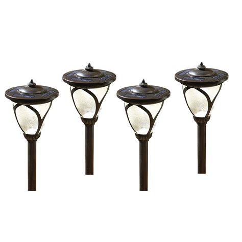 shop allen roth led path light kit at lowes