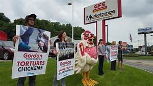 Animal rights group protests local GFS location   Blogh