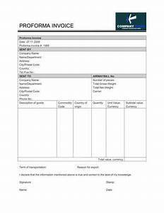 free proforma invoice templates 8 examples word excel With how to prepare proforma invoice