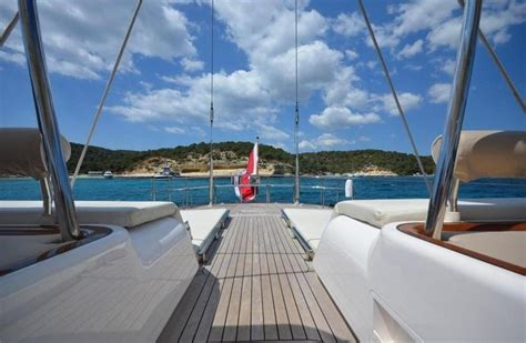 Yacht In The Water Song by Sailing Yacht Song Of The Sea Nautor S Swan Yacht Harbour