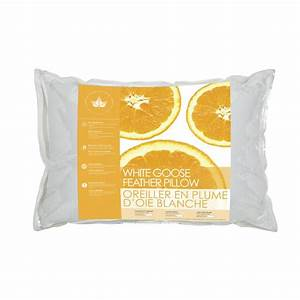 White goose feather pillow canadian down feather company for Duck or goose feather pillows which is better