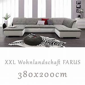 Couchgarnitur U Form : wohnlandschaft couchgarnitur xxl sofa u form weiss grau ottomane rechts m bel24 ~ Orissabook.com Haus und Dekorationen
