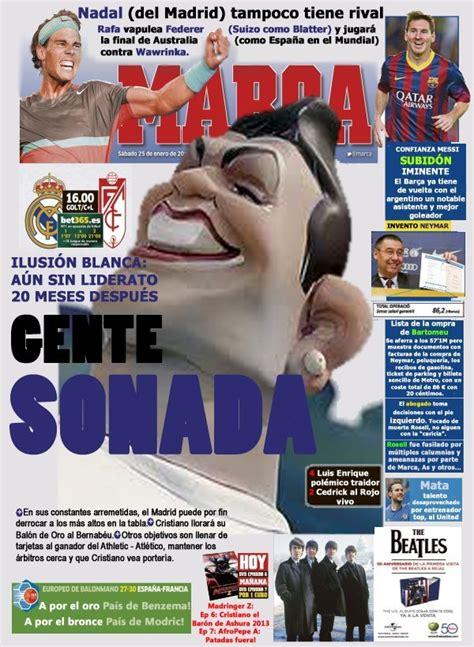 Marca Version by Portada Diario Marca 25 01 2014 En Tierra De Ciegos El