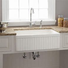 """30"""" Baldwin Fireclay Farmhouse Sink  Fluted Front  Home"""