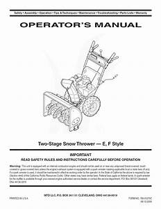 Mtd Snowblower Wiring Diagram