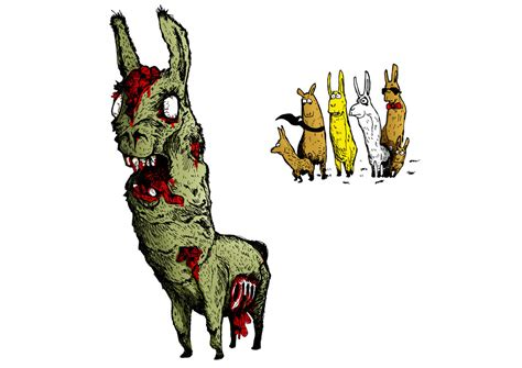 Awesome Zombie Llama By Mirukinousagi On Deviantart