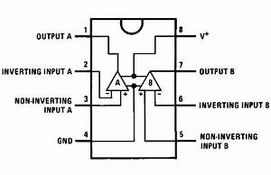 The Lm358 Operational Amplifier Pinout Schematic Diagram