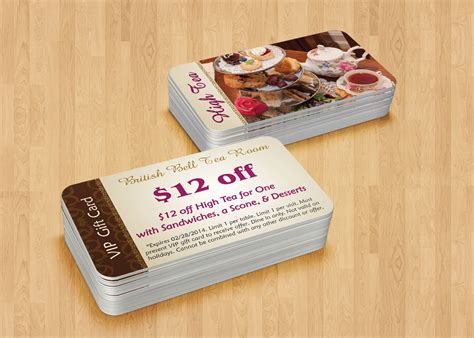 gift card design  restaurants custom design