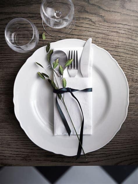 upplaga  piece dinnerware set white ikea
