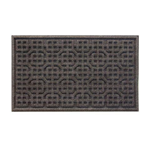 gray doormat trafficmaster gray texture 18 in x 30 in door mat 60 828