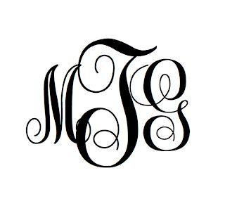 monogramsbym  monogram font