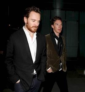 Michael Fassbender and Benedict Cumberbatch arrive at the ...