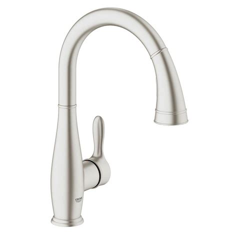 Faucet Grohe by Grohe Parkfield Single Handle Pull Sprayer Kitchen