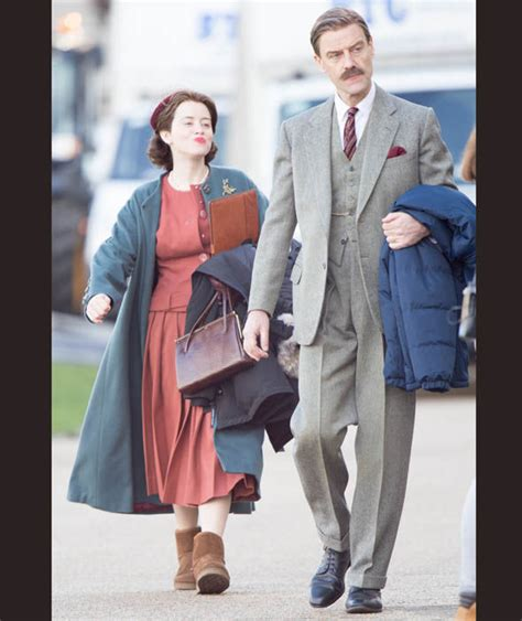 pip torrens tommy lascelles claire foy strolled with pip torrens who plays tommy
