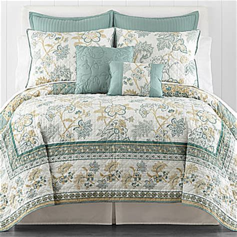 jc penneys quilts jcpenney ridgefield jacobean reversible quilt shopstyle