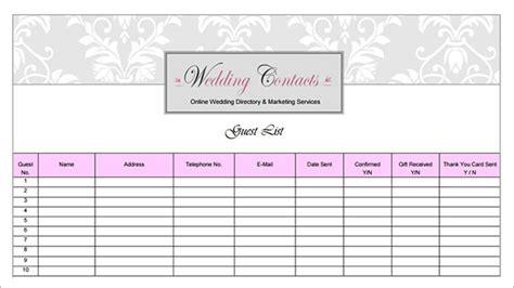 17+ Wedding Guest List Templates