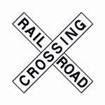 Crossing Railroad Road Rail Icon Clipart Sign