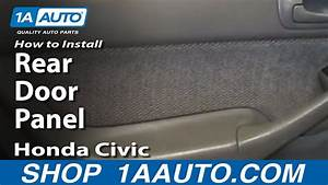 How To Remove Rear Door Panel 96-00 Honda Civic