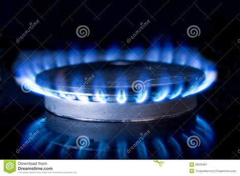 Kitchen Stove-top Flame Stock Image. Image Of Heating