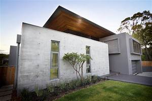 Exposed Concrete Walls, The 24 House in Dunsborough ...