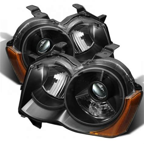 jeep black headlights 08 10 jeep grand cherokee hid model replacement