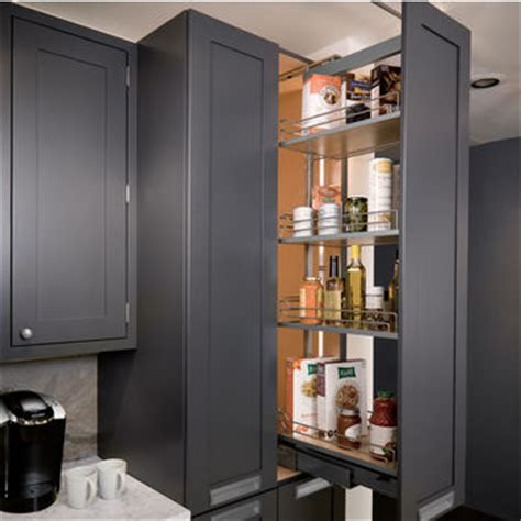 pantry pullout shelves  baskets view  reach items