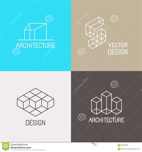 architecture logos stock vector image