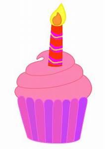 Birthday Cupcake Clipart - Clip Art Library