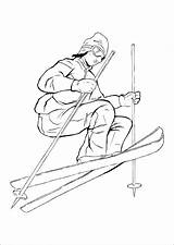 Coloring Pages Skiing Sports Adults Kidspressmagazine Adult Skier Books Printable Activities Elegant Hockey Soccer Print sketch template