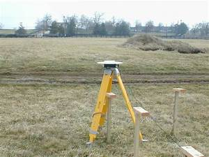 Placement Of Tripod Over Testing Stands During Rtk